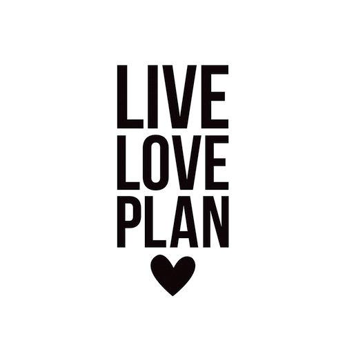 Simple Stories - Carpe Diem - Black Planner Decal - Live Love Plan