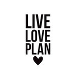 Simple Stories - Carpe Diem - Black Planner Decal - Live Love Plan