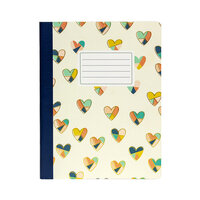 Carpe Diem - Composition Notebook - Floral Love Hearts