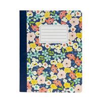 Carpe Diem - Composition Notebook - Floral Love Navy