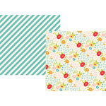 Simple Stories - Summer Days Collection - 12 x 12 Double Sided Paper - Sunny Days