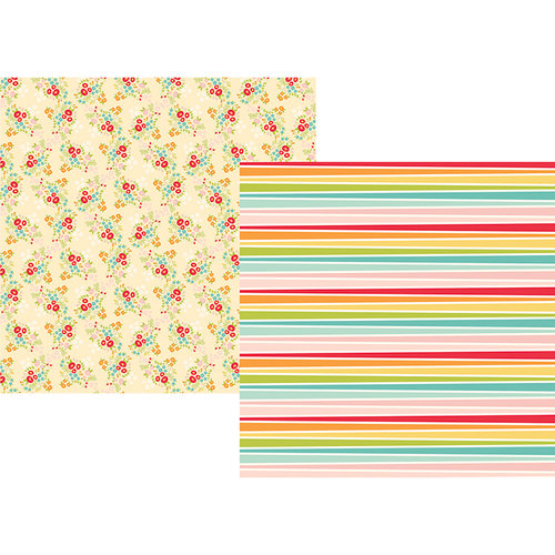 Simple Stories - Summer Days Collection - 12 x 12 Double Sided Paper - Hello Sunshine