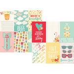 Simple Stories - Summer Days Collection - 12 x 12 Double Sided Paper - 4 x 6 Vertical Elements