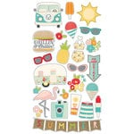 Simple Stories - Summer Days Collection - Chipboard Stickers