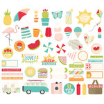 Simple Stories - Summer Days Collection - Bits and Pieces