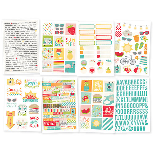 Simple Stories - Summer Days Collection - Cardstock Stickers