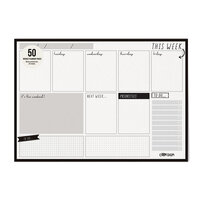 Carpe Diem - Weekly Planner Pad - Black - Undated