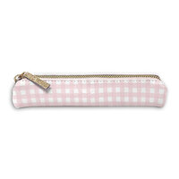 Carpe Diem - Slim Pencil Case - Ballerina Pink Check