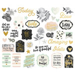 Simple Stories - Beautiful Collection - Bits and Pieces with Foil Accents