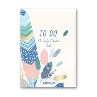 Carpe Diem - A5 Daily Planner Pad - Feathers
