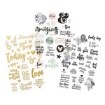 Simple Stories - Beautiful Collection - Clear Stickers with Foil Accents