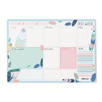 Carpe Diem - Weekly Planner Pad - Feathers - Undated