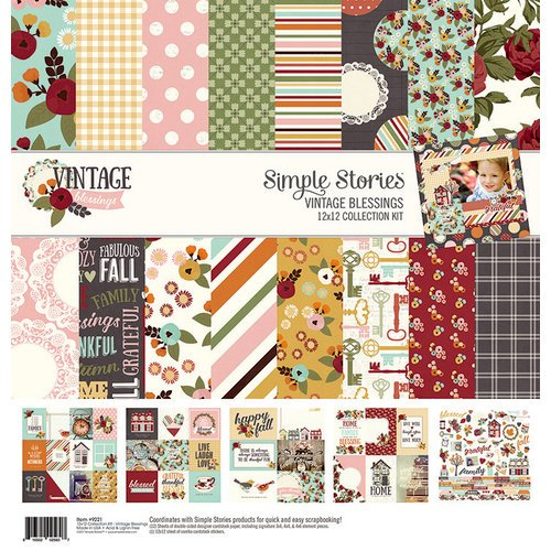 Simple Stories - Vintage Blessings Collection - 12 x 12 Collection Kit