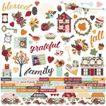 Simple Stories - Vintage Blessings Collection - 12 x 12 Cardstock Stickers - Combo