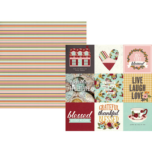 Simple Stories - Vintage Blessings Collection - 12 x 12 Double Sided Paper - 4 x 4 Elements