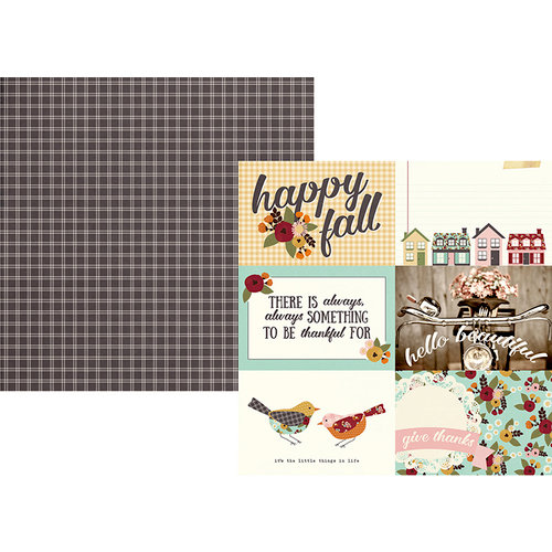 Simple Stories - Vintage Blessings Collection - 12 x 12 Double Sided Paper - 4 x 6 Horizontal Elements