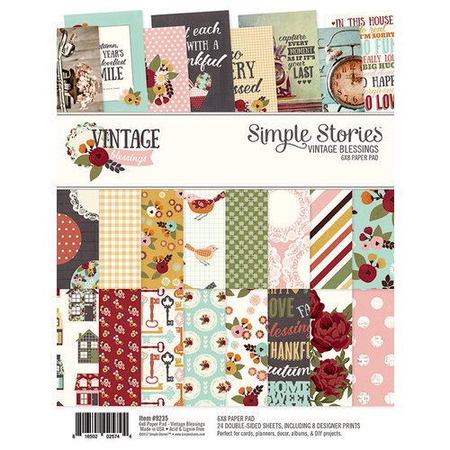 Simple Stories - Vintage Blessings Collection - 6 x 8 Paper Pad