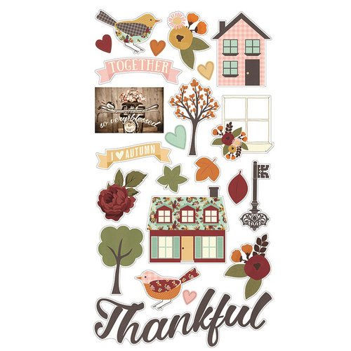 Simple Stories - Vintage Blessings Collection - Chipboard Stickers