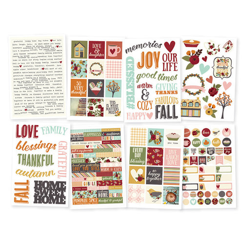 Simple Stories - Vintage Blessings Collection - Cardstock Stickers