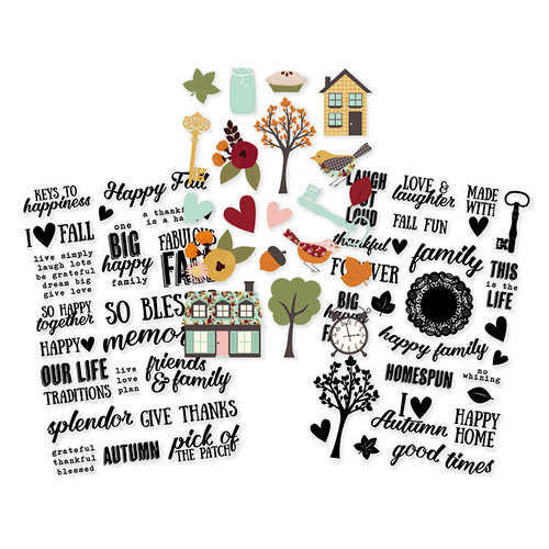 Simple Stories - Vintage Blessings Collection - Clear Stickers