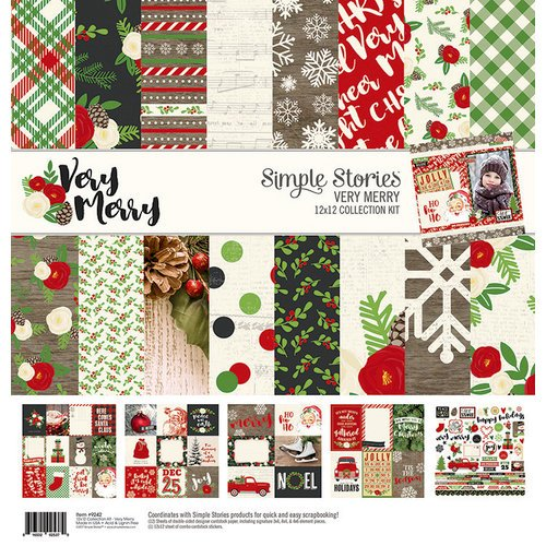 Simple Stories - Very Merry Collection - Christmas - 12 x 12 Collection Kit
