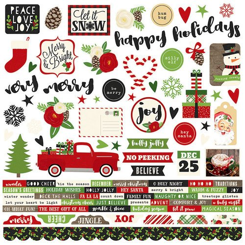 Simple Stories - Very Merry Collection - Christmas - 12 x 12 Cardstock Stickers - Combo