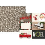 Simple Stories - Very Merry Collection - Christmas - 12 x 12 Double Sided Paper - 4 x 6 Horizontal Elements