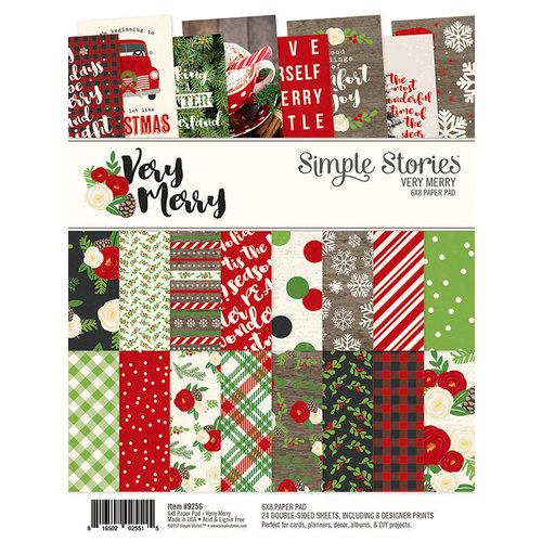 Simple Stories - Very Merry Collection - Christmas - 6 x 8 Paper Pad