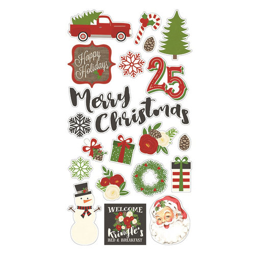 Simple Stories - Very Merry Collection - Christmas - Chipboard Stickers