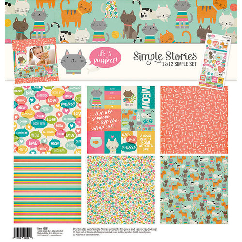 Simple Stories - Life is Purrfect Collection - 12 x 12 Collection Kit