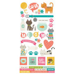 Simple Stories - Life is Purrfect Collection - Cardstock Stickers
