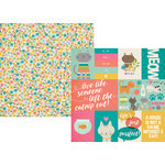 Simple Stories - Life is Purrfect Collection - 12 x 12 Double Sided Paper - 3 x 4 and 4 x 6 Journaling Card Elements