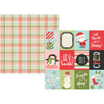 Simple Stories - Oh What Fun Collection - 12 x 12 Double Sided Paper - 3 x 4 Elements