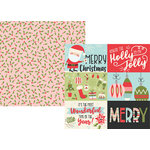 Simple Stories - Oh What Fun Collection - 12 x 12 Double Sided Paper - 4 x 6 Horizontal Elements