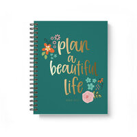 Carpe Diem - Beautiful Life - 17 Month Spiral Planner with Foil Accents - Aug. 2020 to Dec. 2021