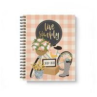 Carpe Diem - Live Simply - 17 Month Spiral Planner with Foil Accents - Aug. 2020 to Dec. 2021