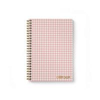 Carpe Diem - B5 Hardcover Notebook - Ballerina Pink Check