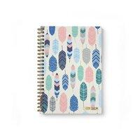 Carpe Diem - B5 Hardcover Notebook - Feathers