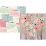 Simple Stories - Romance Collection - 12 x 12 Double Sided Paper - Hello Love