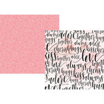 Simple Stories - Romance Collection - 12 x 12 Double Sided Paper - Forever and Always