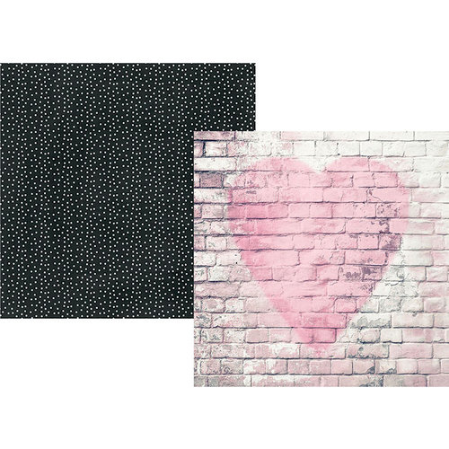 Simple Stories - Romance Collection - 12 x 12 Double Sided Paper - Love Story