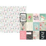 Simple Stories - Romance Collection - 12 x 12 Double Sided Paper - 3 x 4 Journaling Card Elements
