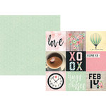 Simple Stories - Romance Collection - 12 x 12 Double Sided Paper - 4 x 4 Elements