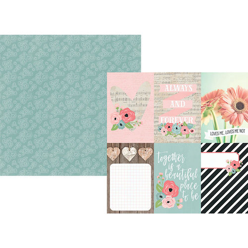 Simple Stories - Romance Collection - 12 x 12 Double Sided Paper - 4 x 6 Vertical Elements