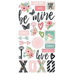Simple Stories - Romance Collection - Chipboard Stickers