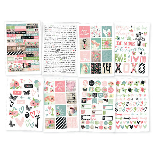 Simple Stories - Romance Collection - Cardstock Stickers