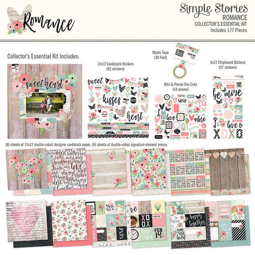 Simple Stories - Romance Collection - 12 x 12 Collectors Essential Kit