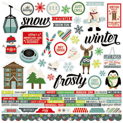 Simple Stories - Sub Zero Collection - 12 x 12 Cardstock Stickers - Combo