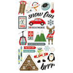 Simple Stories - Sub Zero Collection - Chipboard Stickers