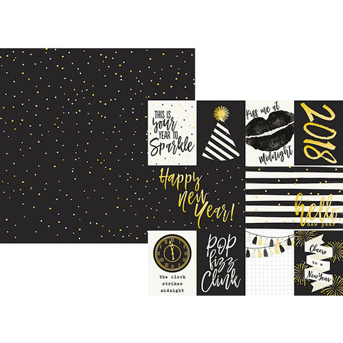 Simple Stories - 2018 Collection - 12 x 12 Double Sided Paper - 3 x 4 and 4 x 6 Journaling Card Elements
